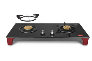 Pigeon by Stovekraft Infinity - 2 Burner Glass Top LPG Stove