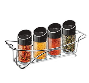 Treo GLS737 Seasons Spice Jar with Stand, 4pc set