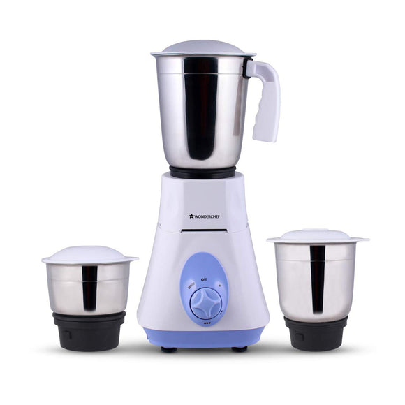 Wonderchef Vietri 500-Watt Mixer Grinder (Blue)