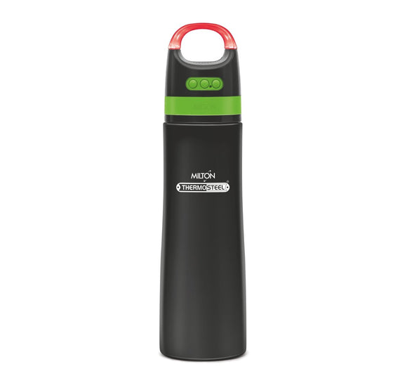 Milton Thermosteel Boom 900ml Waterbottle with Bluetooth Wireless Speaker, Black