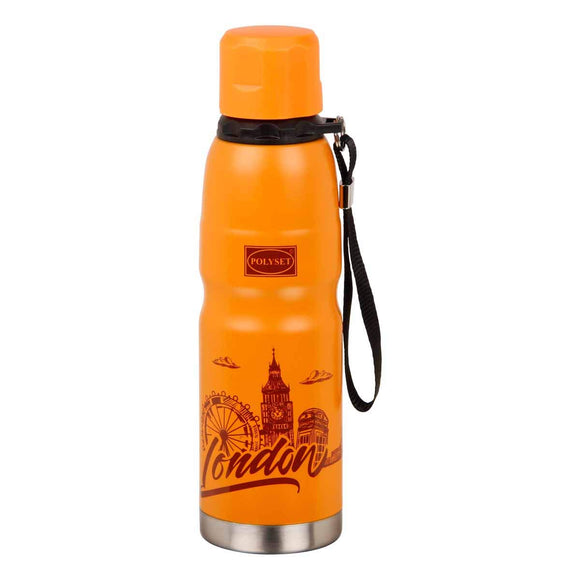 Polyset Adven 2 Stainless Steel Premium Design Vaccum Bottle 600ml (Orange)