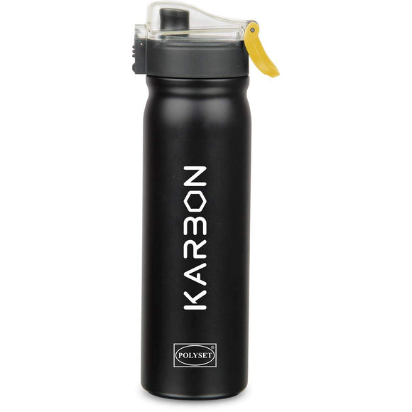 Polyset Karbon Stainless Steel Vaccum Bottle (Black)