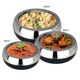 Jaypee Polo Ultra Black/White, Set of 3 Casserole (600+800+1200 ml)