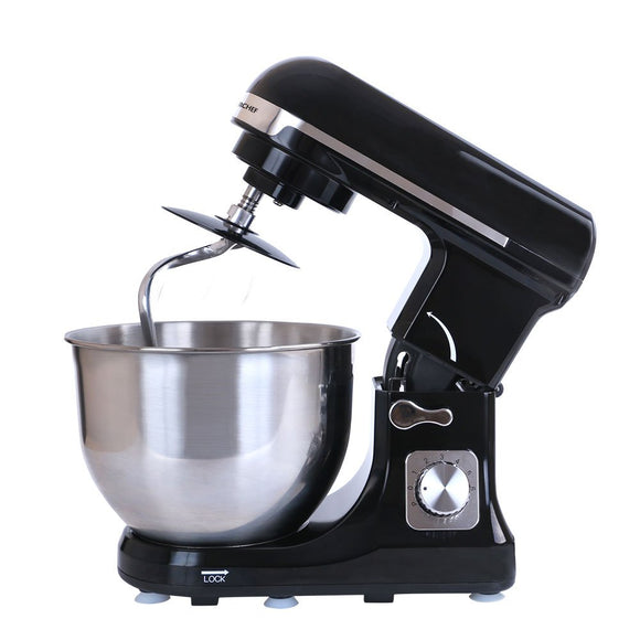 Stand Mixer Black, 6 Speed Setting, 3 Attachments, 5L Bowl, 1000W