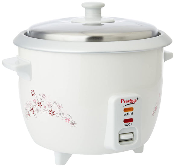 Prestige Delight PRWO 1-Litre Electric Rice Cooker (White)