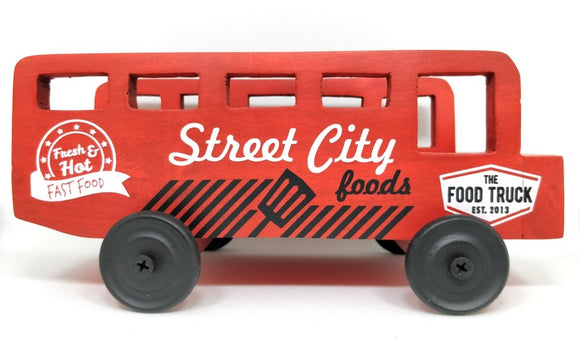 Incredibal things Street City Wood Snack Platter, Multicolour (Street Food Truck)