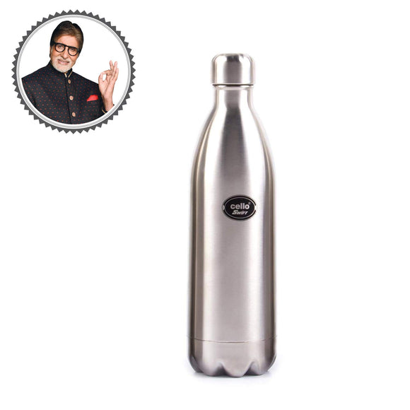 Cello Swift Steel Flask, Silver