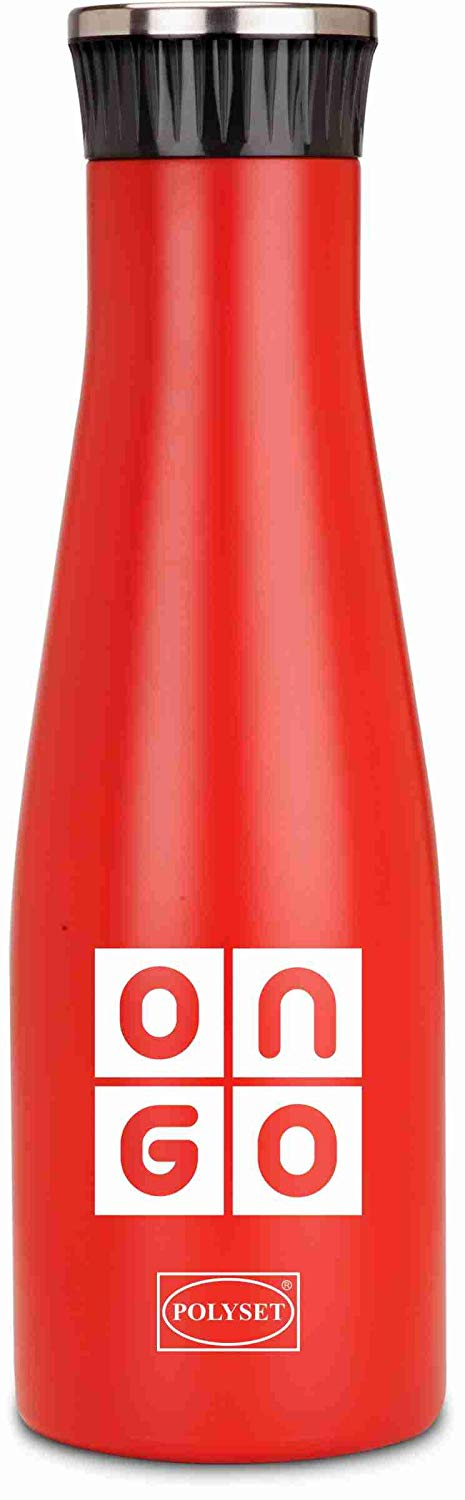 Polyset Ongo 1000ml Stainless Steel Water Bottle (Red)