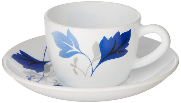 Larah by Borosil 12 pcs Cup and Saucer Set, Ageria