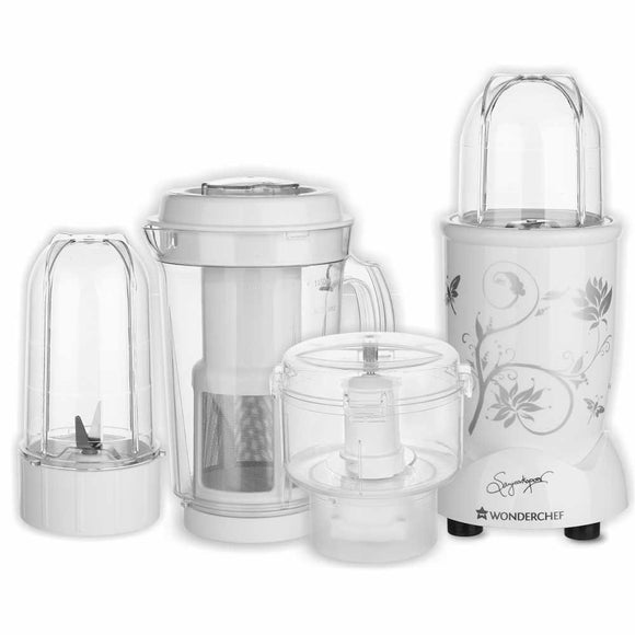 Wonderchef Nutri-Blend CKM with 3 Jars (White)