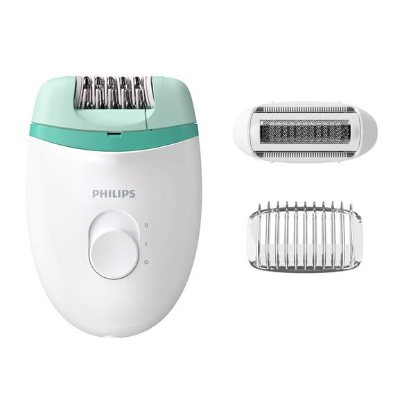 Philips BRE245/00 Corded Compact Epilator (2 in 1 - shaver and epilator) for gentle hair removal at home