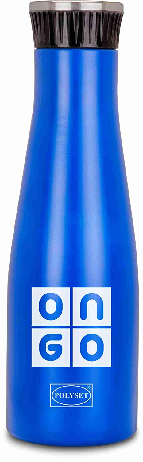 Polyset Ongo 1000ml Stainless Steel Water Bottle (Blue)