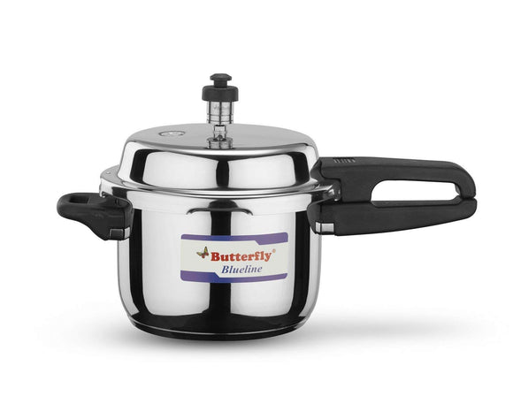 Butterfly Blue Line Stainless Steel Pressure Cooker, 3 Litre