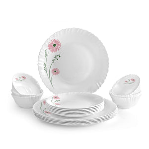 Cello Dazzle Opalware Dinner Set (Pink Lilac)
