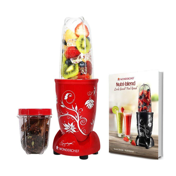 Wonderchef Nutri-Blend 400 Watts Juicer Mixer Grinder (Red)