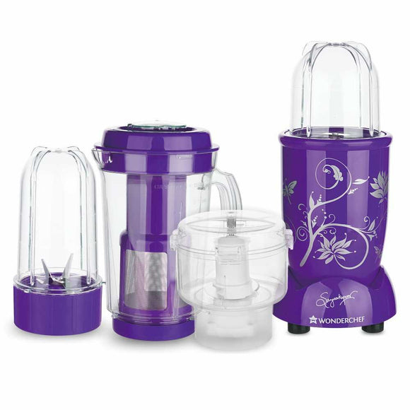 Wonderchef Nutri-Blend CKM with 3 Jars (Purple)