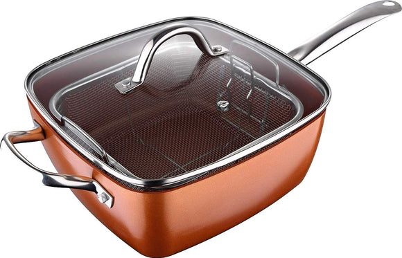 Bergner Cube Square Pan with Lid