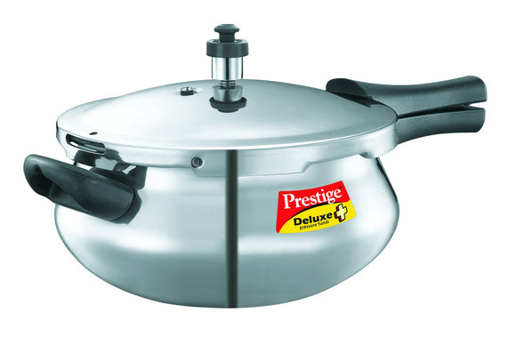Prestige Deluxe Plus Junior Induction Base Aluminium Pressure Handi, 4.8 Litres, Silver