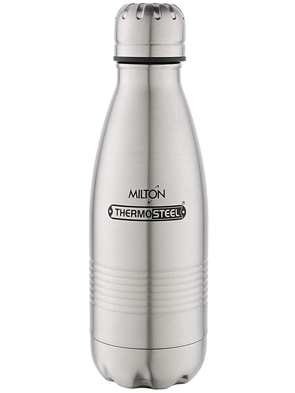 Milton Duo DLX 350 Bottle, 350ml, Silver
