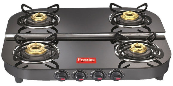 PR 40265 Plus DGT 04 Glass Top Gas Stove, Black (AEPRESTIGE40265)