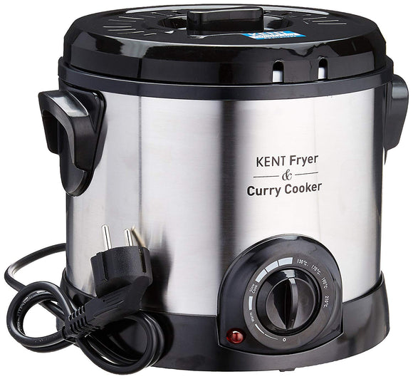 Kent 16001 1500-Watt Fryer and Curry Cooker (Steel Grey)