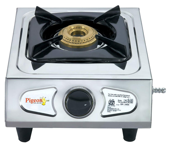 Pigeon Stainless Steel Classic LPG Stove, 1 Burner