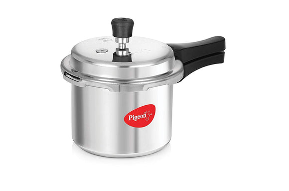 Pigeon by Stovekraft Favourite Induction Base Aluminium Pressure Cooker with Outer Lid, 3 Litres, Silver