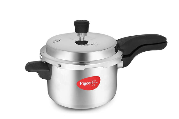 Pigeon by Stovekraft Magna Innoply Stainless Steel Pressure Cooker, 2 Litres, Silver