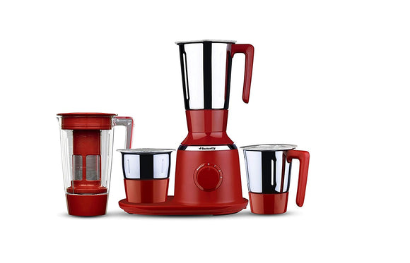 BUTTERFLY SPECTRA 4 JAR MIXER GRINDER JUICER RED