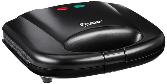 Prestige PGMFB 800 Watt Grill Sandwich Toaster with Fixed Grill Plates, Black