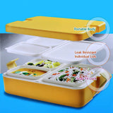 Cello Lunch Mate Air Tight Lunch Box, 3 Pcs, Orange