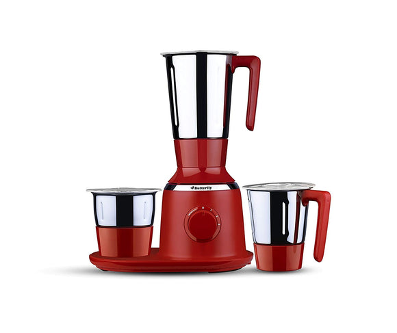 Butterfly Spectra 750-Watt Mixer Grinder with 3 Jars (Red)