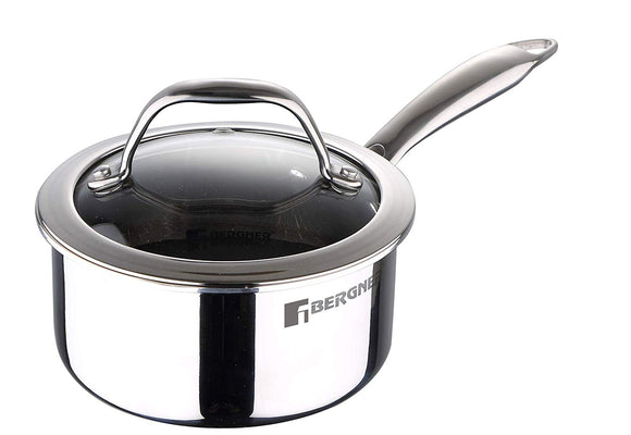 Bergner Hi-Tech Prism Non-Stick Sauce pan with Lid, 16 cm