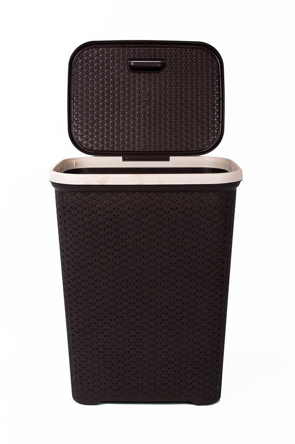 IncredibleThings Laundry Basket with Lid Clothes Basket Dark Brown