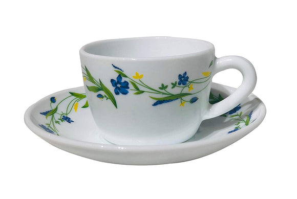 Larah by Bororsil 12 pcs Cup and Saucer Set, Cripper