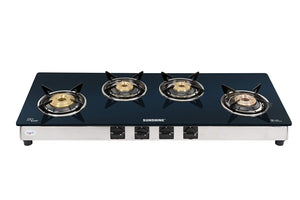 Sunshine Olympic 4 Burner Toughened Glass Gas Stove
