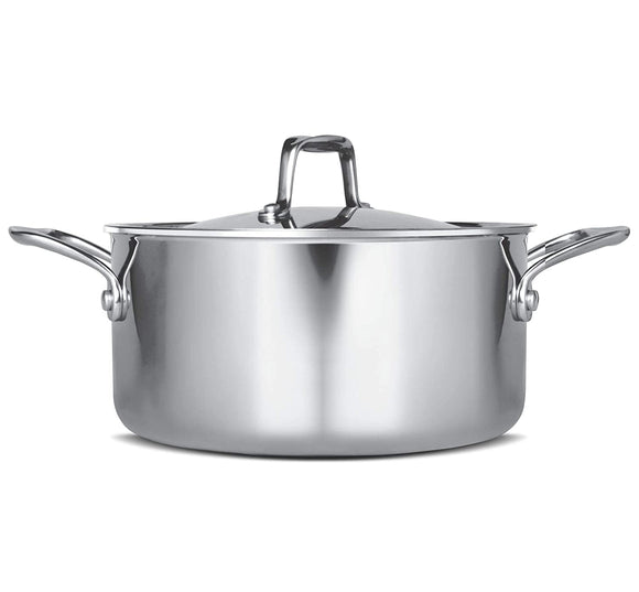 Treo by Milton Triply Stainless Steel Casserole with Lid, 24 cm / 5200 ml