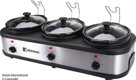 Bergner Triple Pot Slow Cooker