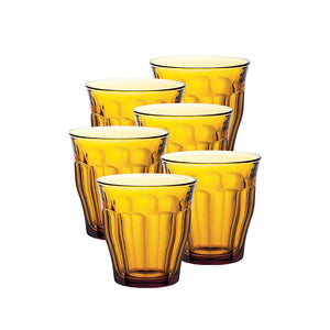 Duralex Picardie Gobelet Tumber 31 cl 6 pc Set, Amber Color