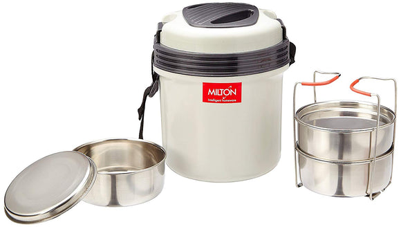 Milton Electron Containers Lunch Box, Set of 3 (Grey) (EC-ELG-ELT-0001_Grey)