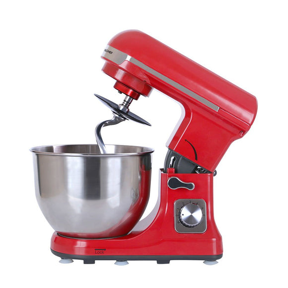 Stand Mixer Red, 6 Speed Setting, 3Attachment, 1000W