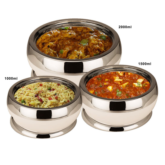 Jaypee Amaze, Set of 3 Casserole White/Black (1000+1500+2000 ml)