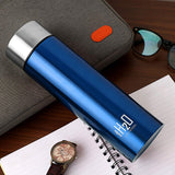Cello H2O Stainless Steel Water Bottle, 1 Litre, Blue