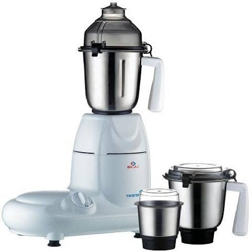 Bajaj Twister 750-Watt Mixer Grinder with 3 Jars (White)
