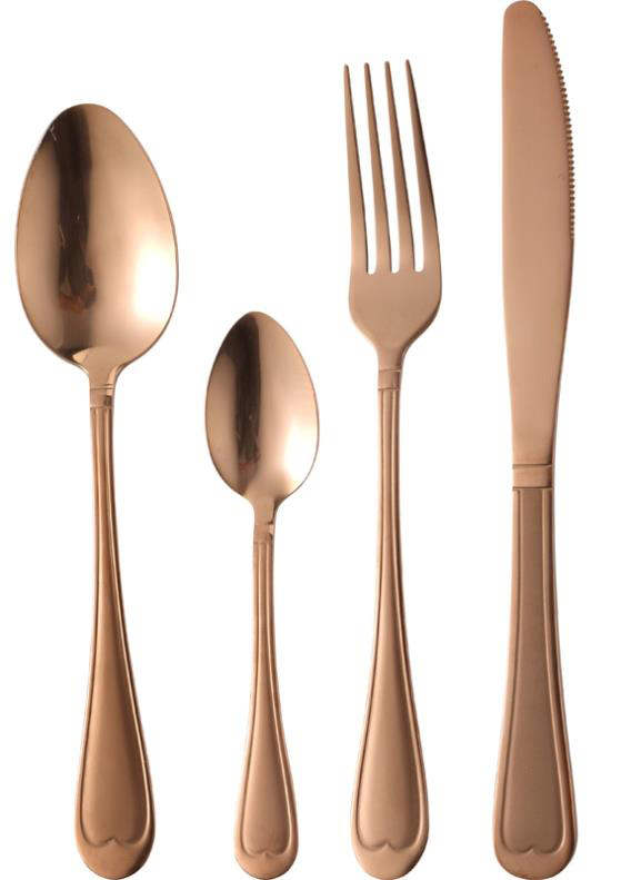 Bergner Nouveau 24 pc Cuttlery Set , Copper