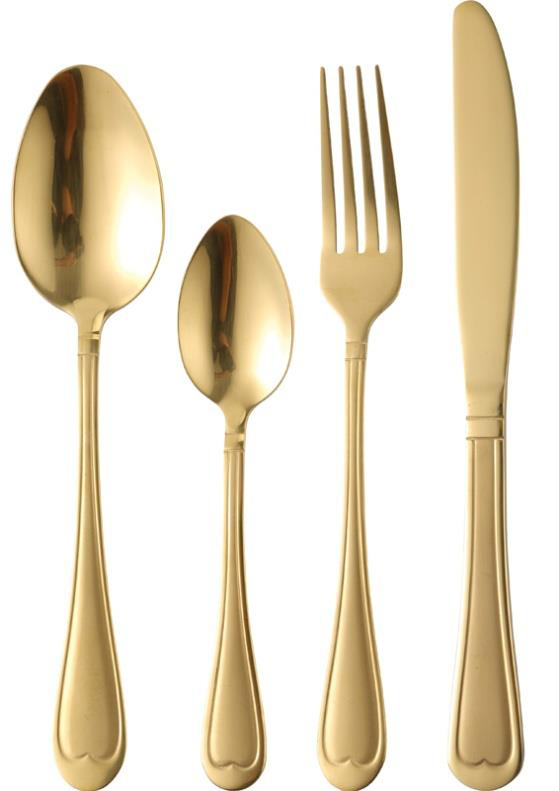 Bergner Nouveau 24 pc Cuttlery Set , Gold
