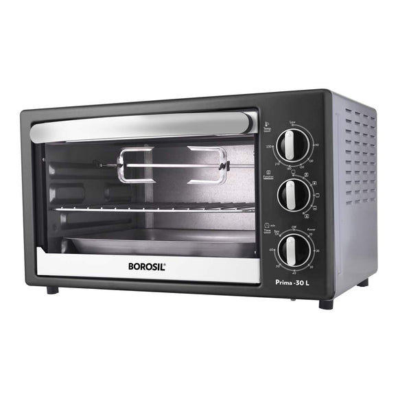 Borosil Prima 30 L OTG, With Motorized Rotisserie And Convection, 1500 Watts BOTG30CRS13