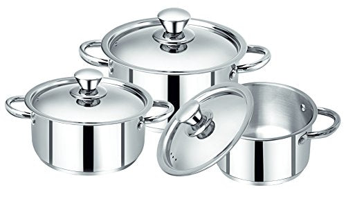 Bergner Acier Stainless Steel 6pc Cookware Set