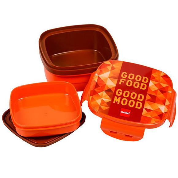 Cello Jolly Lunch Box, Orange , 1 Pc