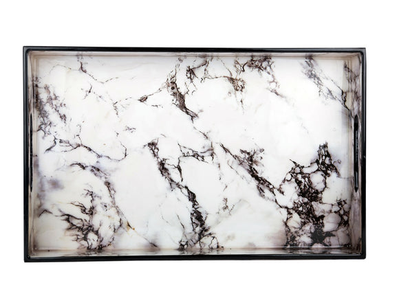 IncredibleThings White Marble Tray ( 1 Pc )